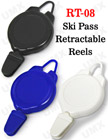 Ski Pass Retractable Reels For Sports ID Badge Holders RT-08/Per-Piece