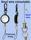 Steel Metal Cable Wire Retractable Reels With Universal Strings RT-03S-CP1/Per-Piece