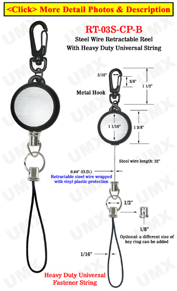Heavy Duty Cable Wire Retractable Reels With Heavy Duty Universal Fasteners