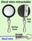 Durable Steel Cable Reels With Retractable Spring Hooks