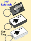 Entertainment Retractable Key Chains: Poker ACE Print RT-51-ACE-O/Per-Piece