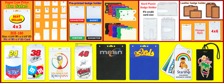 Wholesale Name Badge Holders, Plastic ID Cards, Name Tags, Ticket Pouches & Sleeves
