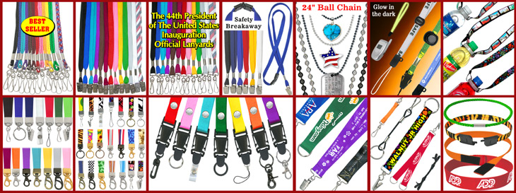 Plain and Custom Printed Lanyards